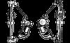 Стеклоподъемник 2109, 21099, 2114, 2115 электр. перед. лев. в сборе с моторедуктором