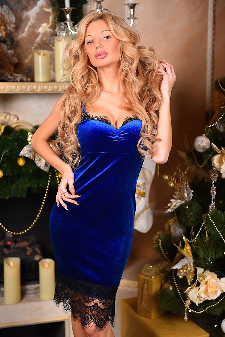 Х9001 Коктейльное платье из бархата в расцветках