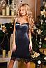 Х9001 Коктейльное платье из бархата в расцветках, фото 6