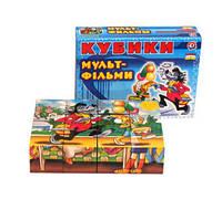 """Кубики пласт 12шт """"Мультфильмы"""" в карт. уп. Украина"""