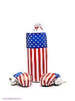 Боксерская груша с перчатками (50 см) Америка L-USA