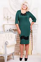 Платье женское батальных размеров Тамара бутылка, размер 50, 52, 54, 56, 58