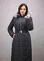 Женский пуховик большого размера К 103 евро темно-серый
