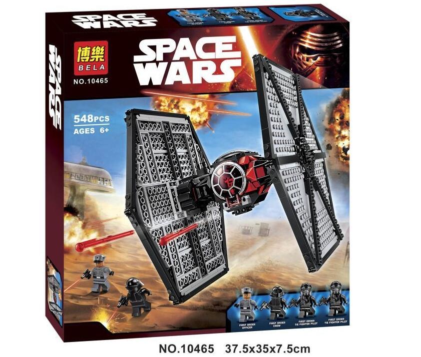"""Конструктор Bela 10465 Star Wars """"Истребитель TIE особых войск Первого Ордена"""" (аналог LEGO 75101), 548 дет."""