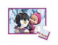 """Игрушечных набор Vladi Toys Пазлы на магнитах """"Маша и пингвин"""" 163 * 233 * 3мм 12 элементов"""