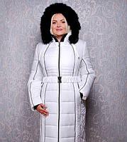 Женское зимнее пальто из плащевки К 103 евро белое
