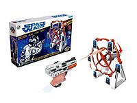 """Пистолет игрушечный с мишенью """"SPACE"""", с музыкой, стреляет мягкими патронами."""