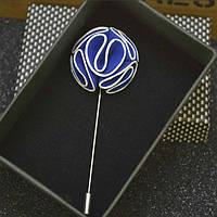 Bow Tie House™ Бутоньерка синяя с белой окантовкой