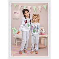 Домашняя одежда для девочек_Пижамы и ночнушки для девочекПижама для девочки 001_001/128/ в наличии 128 р., также есть: 110,116,122,128,134,
