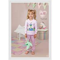 Домашняя одежда для девочек_Пижамы и ночнушки для девочекПижама для девочки 001_002/116/ в наличии 116 р., также есть: 104,116,122,134, Ellen_Дітекс