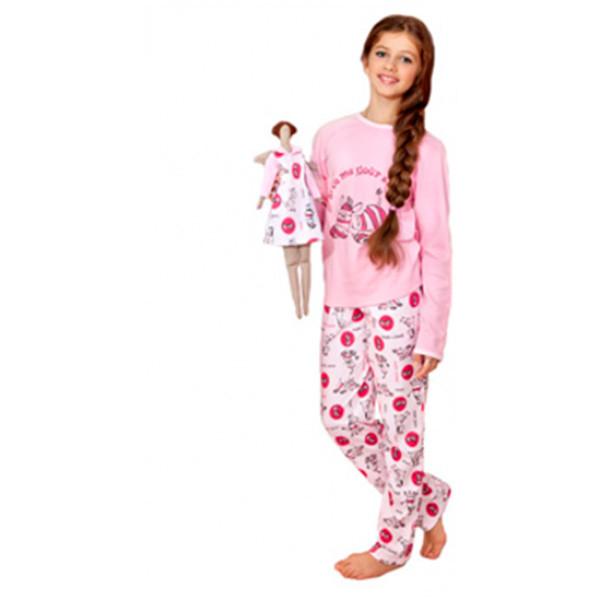 Домашняя одежда Пижама для девочки 003 001  р.146  - Интернет магазин  littlekids bad2f203698e4
