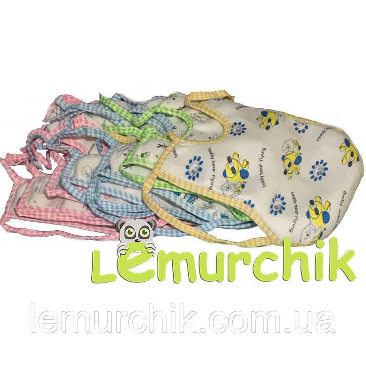 Слюнявчик нагрудник для ребенка на завязочках Турция