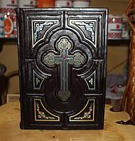 """Книга на подарок, """"Библия уголки"""" в кожаном переплете."""