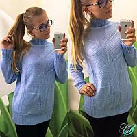 Женский вязанный универсальный свитер