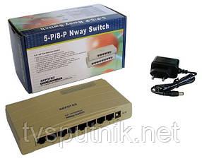 Свитч (коммутатор) Repotec PR-1708K (8 портов)