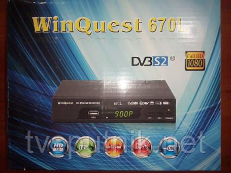 Спутниковый HD ресивер Winquest 670L (прошитый с каналами), фото 2