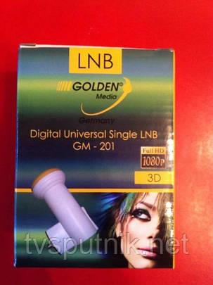 Спутниковый конвертор (головка) на один тв. Golden Media GM-201 Single Universal, фото 2