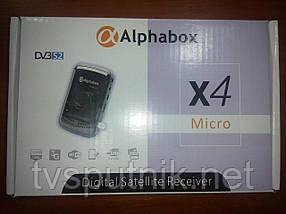 Спутниковый мини ресивер Alphabox X4 Micro HD (c картоприемником, прошитый)