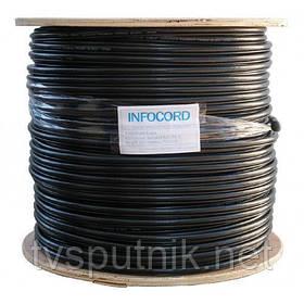 Телевизионный коаксиальный кабель Infocord F 660 BVM black (с тросиком)  (305м)