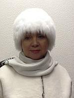 Шапка в стиле Elisabetta Franchi женская песец белая вязка, фото 1