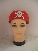Пиратская бандана красная