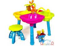 Песочный столик с набором и стульчиком Киндервей