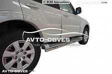 Подножки трубы для защиты родного порога Mitsubishi Pajero Wagon IV