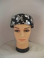 Пиратская бандана с черепами серебристая, фото 1