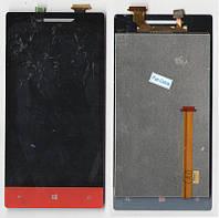 Дисплей + сенсор HTC A620e Windows Phone 8S красный (оригинальный)