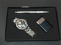 Подарочный набор №1 - часы, ручка, зажигалка - подарок для мужчин