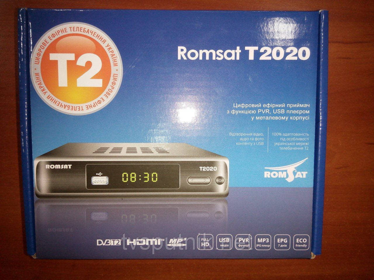 Эфирный тюнер Romsat T2020 (DVB-T2)