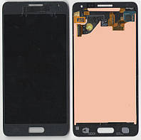 Дисплей + сенсор Samsung G850F Galaxy Alpha, тёмно-серый карбон с тачскрином (Dark-grey)