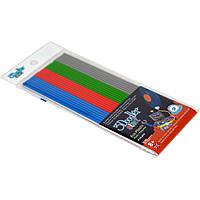 Набор стержней для 3D-ручки Микс (24 шт.: синий, красный, зеленый, серый)