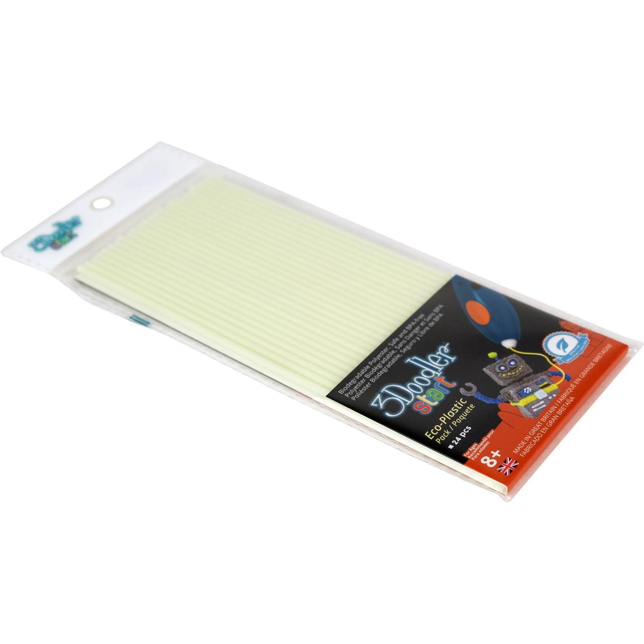 Набор стержней для 3D-ручки (светящиеся в темноте, 24 шт.)