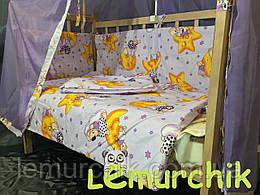 Комплект для сна 11 предметов (кроватка ольха светлая, постельный набор Premium, матрас КПК, держатель)