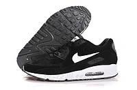 Зимние кроссовки Nike Air Max 90 черные на меху