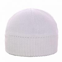 Белая мужская шапка зимняя