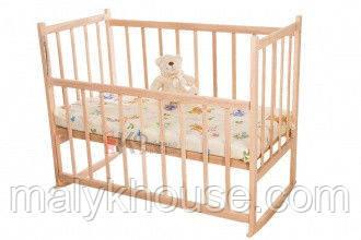 Не лакированная детская кроватка КФ-2