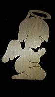 """Подвеска из фанеры """"Ангел в молитве"""", 10х8 см 15\10 (цена за 1 шт. +10 грн.)"""