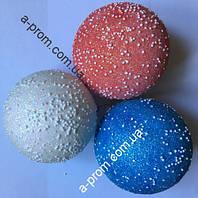 """Ёлочная игрушка шар """"Блестящие"""" d=10 см пластик, цвета в ассортименте"""