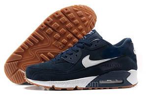 Nike Air Max 90 Suede Мужские Кроссовки темно-синие