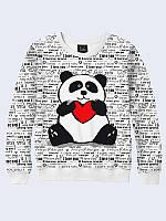 Світшот жіночий 3D Люблю панду, фото 1