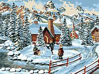 Картины раскраски по номерам 30×40 см. Зимние каникулы