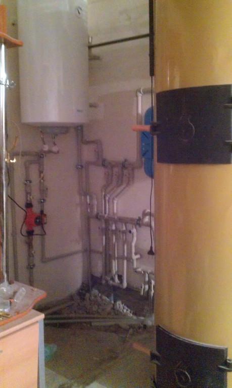 Отопление коттеджа и ГВС  жилой площадью 350 кв.м .