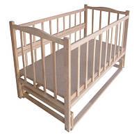 Кроватка для новорожденных КФ с маятником и опускным боком