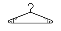 ВЕШАЛКА ИЗ ПЛАСТИКА №4-В (черная, поворотный крючек)