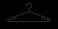 ПЛЕЧИКИ ПЛАСТМАССОВЫЕ №4-В (черная, поворотный крючек)