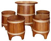 Набор мебели в бондарном стиле