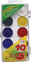 Краски акварель Гамма 10цв пластик