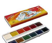 Краски акварель Гамма 12цв картон